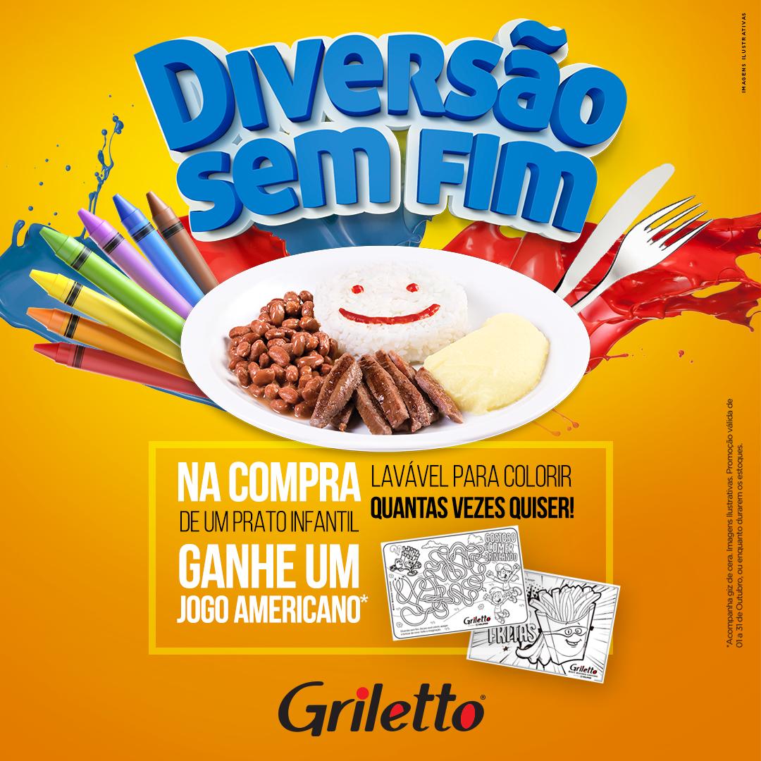 Griletto dá brinde para as crianças