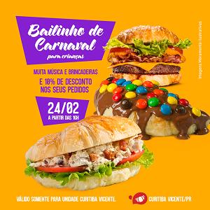 Programação gastronômica para o carnaval de Curitiba