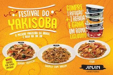 Jin Jin lança novos pratos em seu Festival do Yakisoba