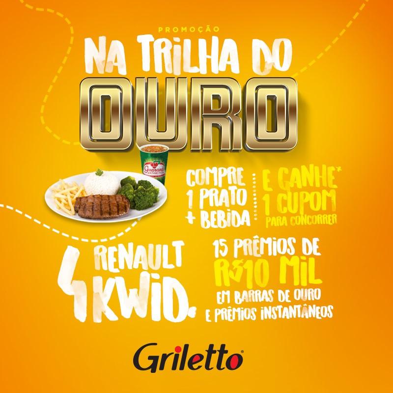 """Griletto lança promoção """"Na Trilha do Ouro"""""""