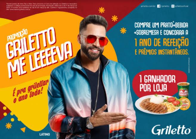 Latino estrela nova campanha do Griletto