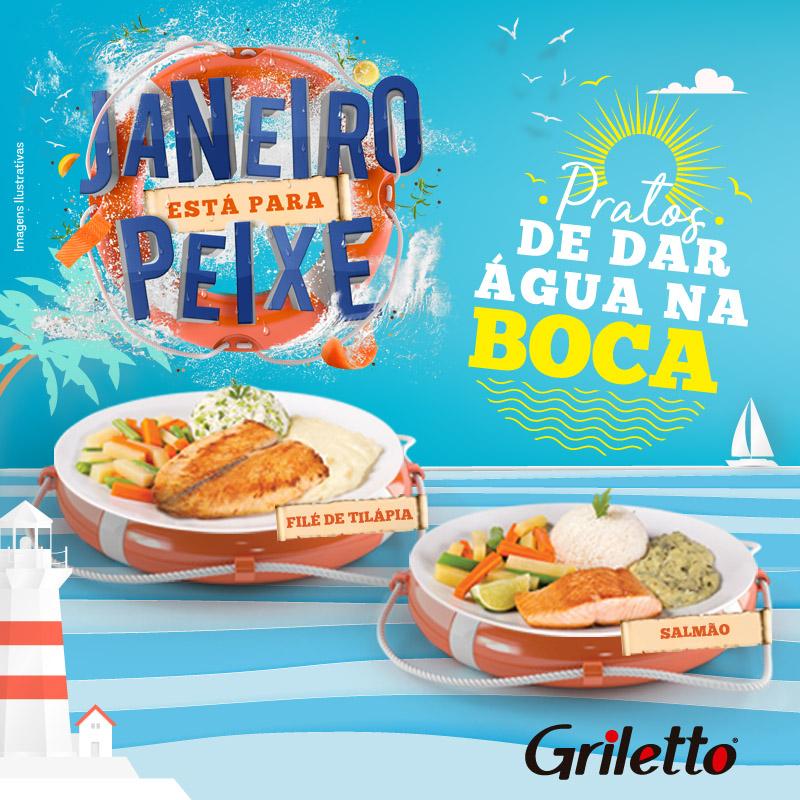 Griletto destaca pratos com peixe em janeiro