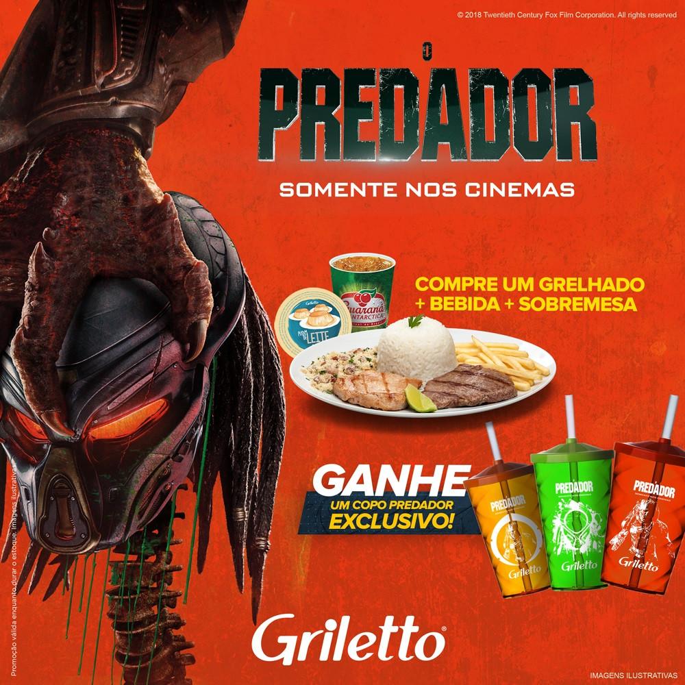 Griletto dá copos de O Predador